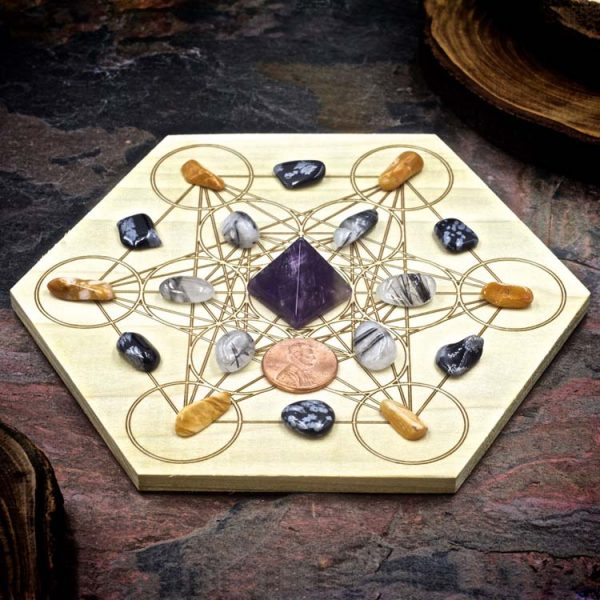 Stress Relief Mini Crystal Grid Set by Healing Stones for You