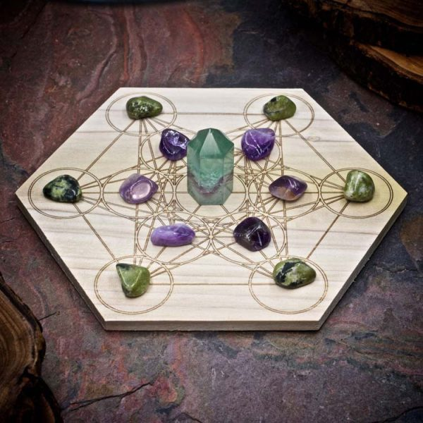 Focus and Motivation Mini Crystal Grid Set by Healing Stones for You
