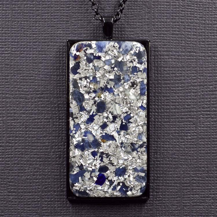 Sodalite and Aluminum Orgonite® Pendant by Healing Stones for You