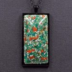 Amazonite and Red Jasper Orgonite® Pendant by Healing Stones for You