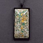 Amazonite and Yellow Jasper Orgonite® Pendant by Healing Stones for You