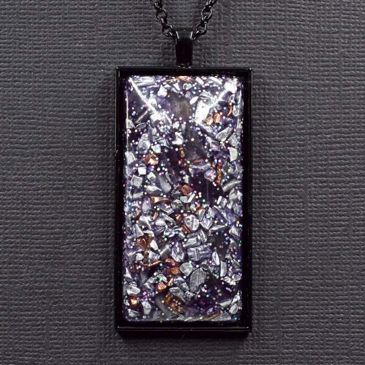 Amethyst Aluminum Copper Orgonite® Pendant by Healing Stones for You