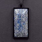 Aluminum with Blue Glitter Orgonite® Pendant by Healing Stones for You