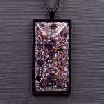 Amethyst Copper and Aluminum Orgonite® Pendant by Healing Stones for You
