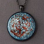 Red Jasper Orgonite® Dome Pendant by Healing Stones for You