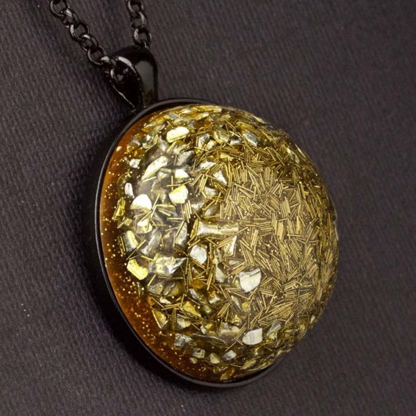 Brass Orgonite® Dome Pendant by Healing Stones for You