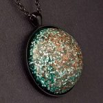Copper and Aluminum Orgonite® Dome Pendant by Healing Stones for You