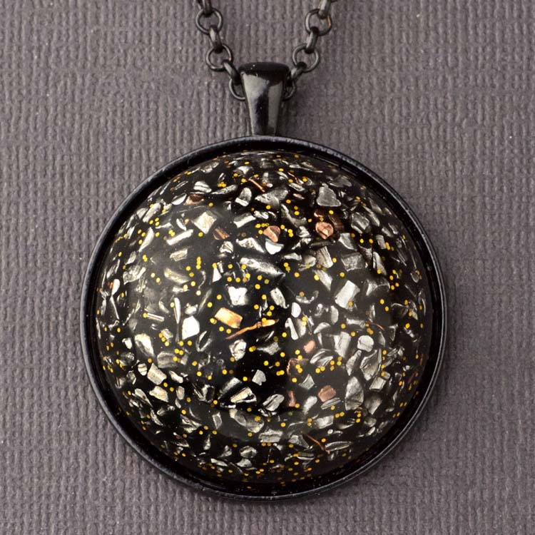 Aluminum and Copper Orgonite® Dome Pendant by Healing Stones for You
