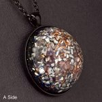 Rose Quartz Orgonite® Dome Pendant by Healing Stones for You