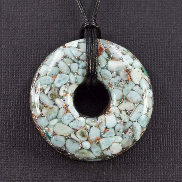 Larimar Orgonite® Pendant by Healing Stones for You