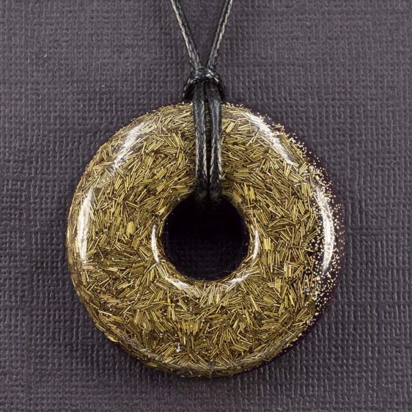 Brass Orgonite® Pendant by Healing Stones for You