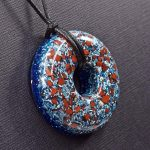 Red Jasper Orgonite® Pendant by Healing Stones for You