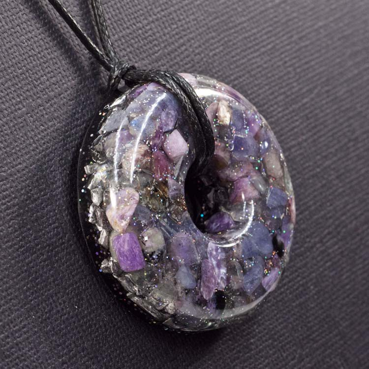Strengthen Spiritual Power Orgonite® Pendant by Healing Stones for You