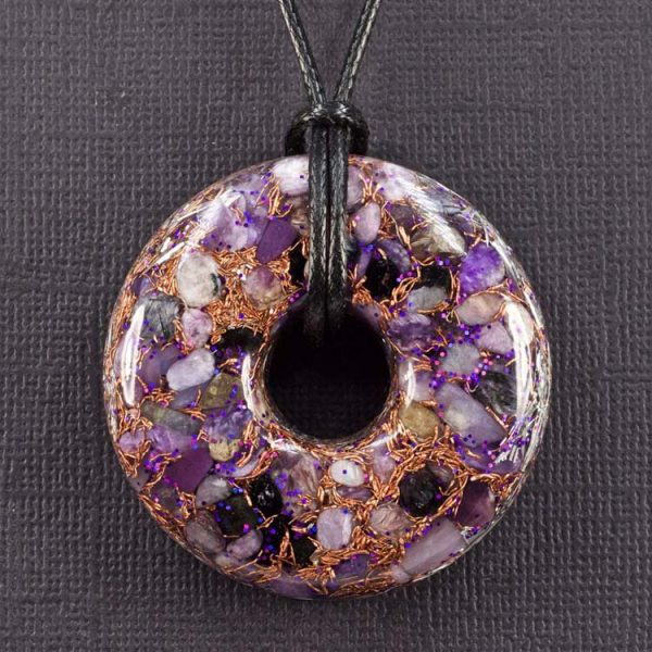Charoite Orgonite® Pendant by Healing Stones for You