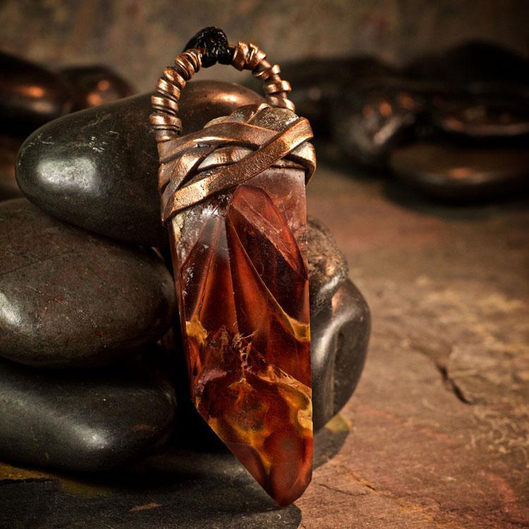 Amphibole Quartz / Angel Phantom Quartz Pendant A by Healing Stones for You