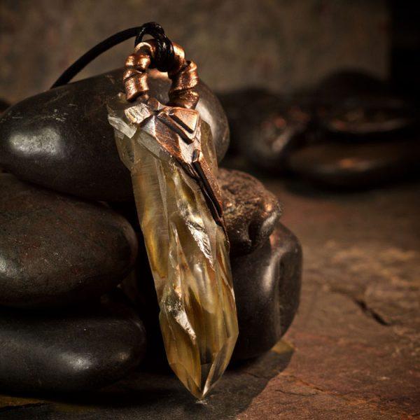 Amphibole Quartz / Angel Phantom Quartz Pendant C by Healing Stones for You