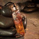 Amphibole Quartz / Angel Phantom Quartz Pendant E by Healing Stones for You