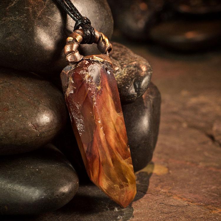 Amphibole Quartz / Angel Phantom Quartz Pendant F by Healing Stones for You