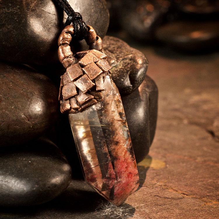 Amphibole Quartz / Angel Phantom Quartz Pendant G by Healing Stones for You