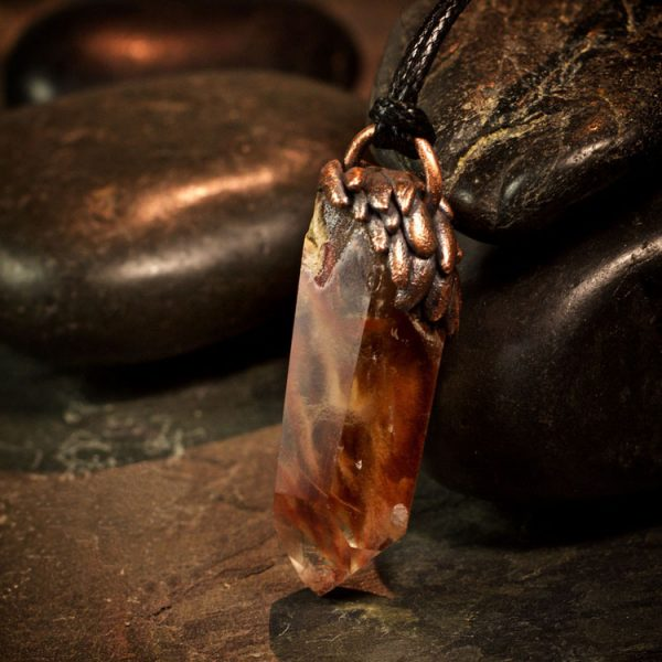 Amphibole Quartz / Angel Phantom Quartz Pendant H by Healing Stones for You