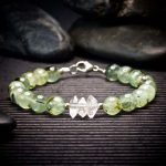 Prehnite and Herkimer Diamond Bracelet by Healing Stones for You