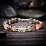 Phantom Quartz and Herkimer Diamond Bracelet by Healing Stones for You
