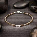 Smoky Quartz and Herkimer Diamond Mini Crystal Bracelet by Healing Stones for You