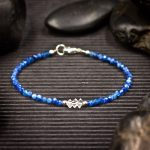 Blue Kyanite and Herkimer Diamond Mini Crystal Bracelet by Healing Stones for You