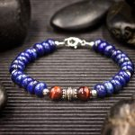Lapis Lazuli and Red Tiger Eye Bracelet by Healing Stones for You