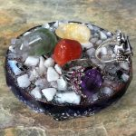 Rainbow Moonstone Orgonite® Charging Platform by Healing Stones for You