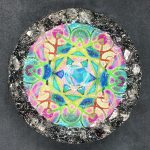 Crystal Point Orgonite® Charging Platform with Grid by Healing Stones for You