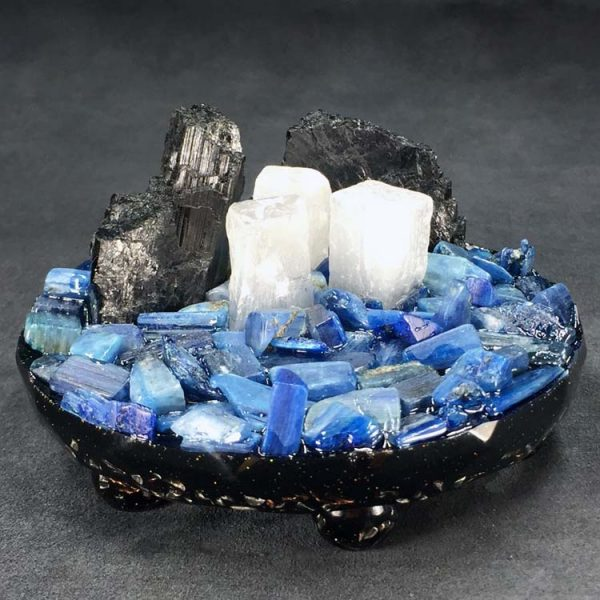 Blue Kyanite Orgonite® Charging Platform by Healing Stones for You