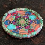 Chrysoprase Metatrons Cube Orgonite® Charging Plate by Healing Stones for You