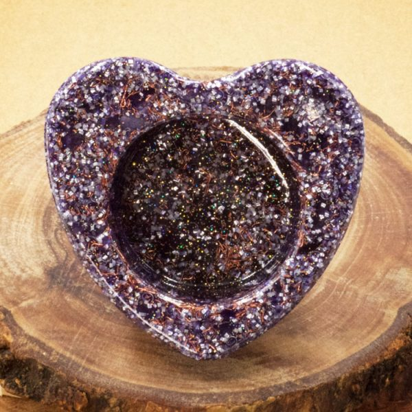 Orgonite Heart Charging Bowl by Healing Stones for You