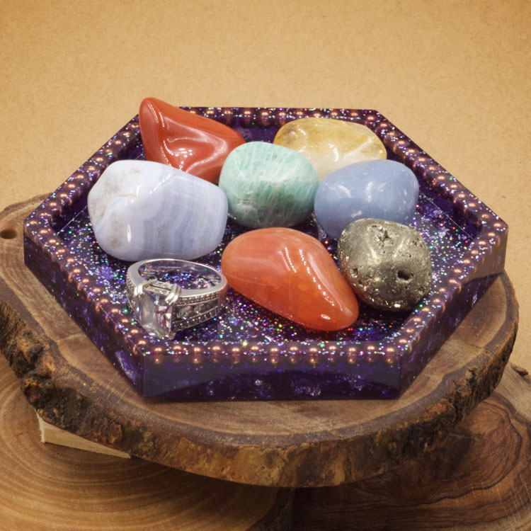 Orgonite Hexagon Charging Dish by Healing Stones for You
