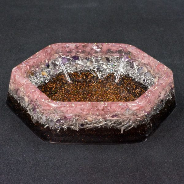 Rose Quartz Orgonite Charging Dish by Healing Stones for You