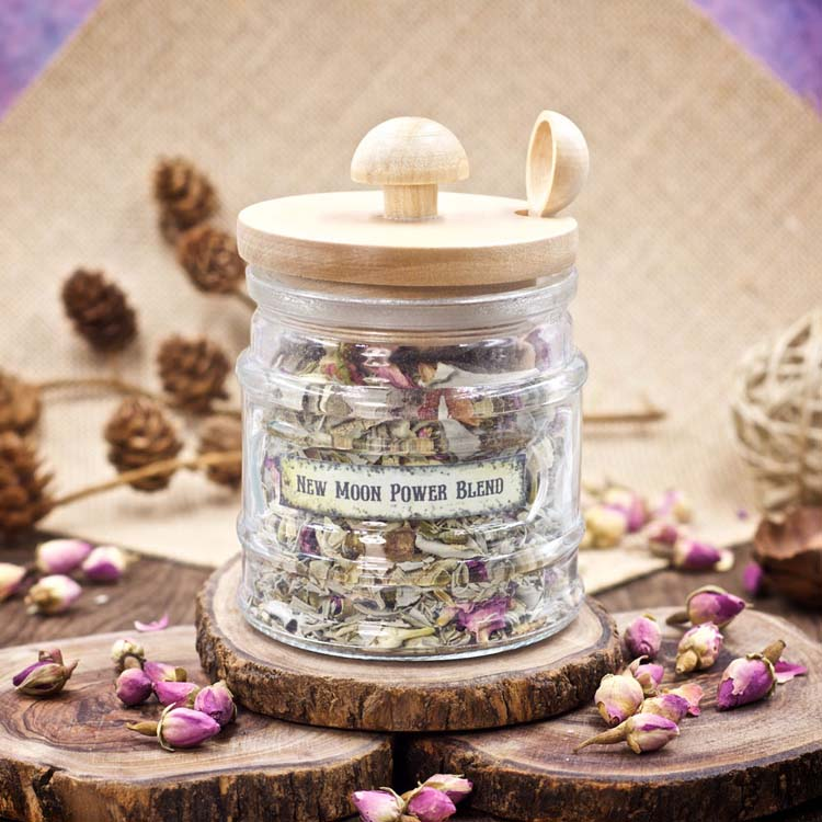 New Moon Power Blend Custom Smudge Mix by Healing Stones for You