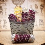 White Sage and Rose Petals Smudge Stick