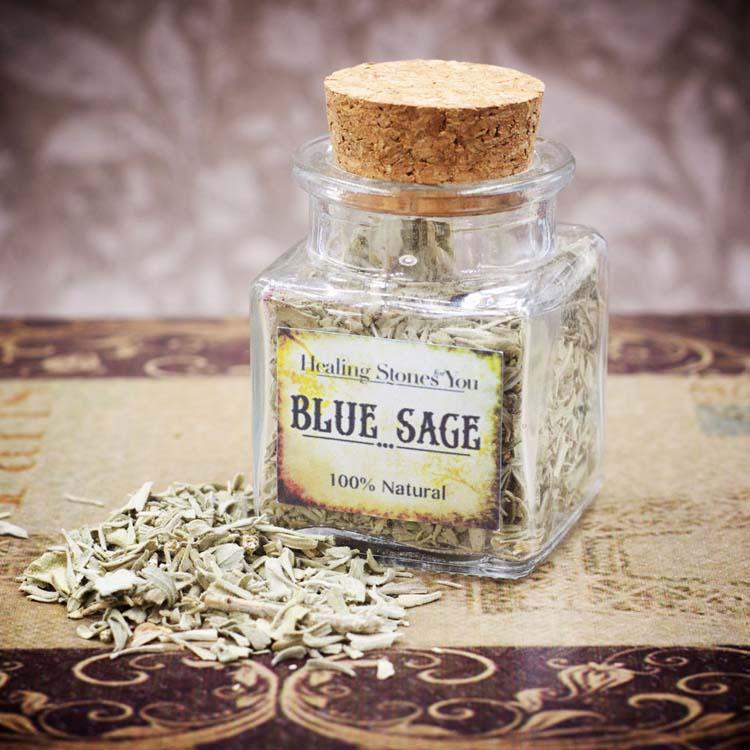 Blue Sage Mini Herbal Apothecary Jar