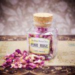 Pink Rose Petals Mini Herbal Apothecary Jar
