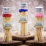 Long Apothecary Matches in Glass Jar by Healing Stones for You