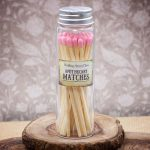 Long Pink Apothecary Matches in Glass Jar by Healing Stones for You