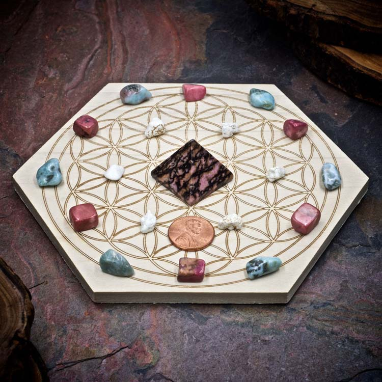 Attract Your Soulmate Mini Crystal Grid Set by Healing Stones for You