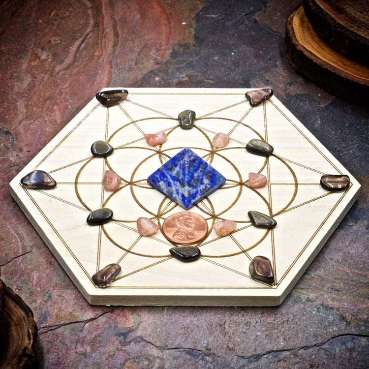 Step Into your Power Mini Crystal Grid Set by Healing Stones for You
