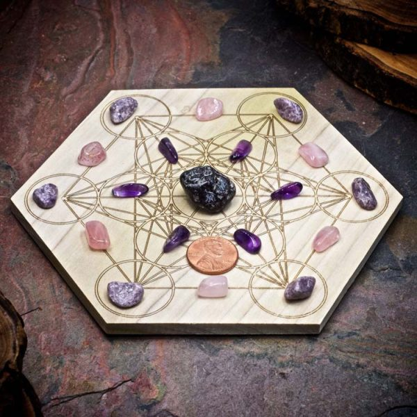Dissolve Grief Mini Crystal Grid Set by Healing Stones for You