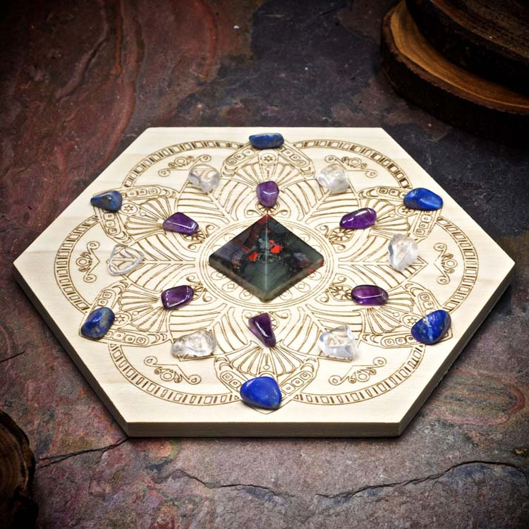 Enhance Intuition Mini Crystal Grid Set by Healing Stones for You