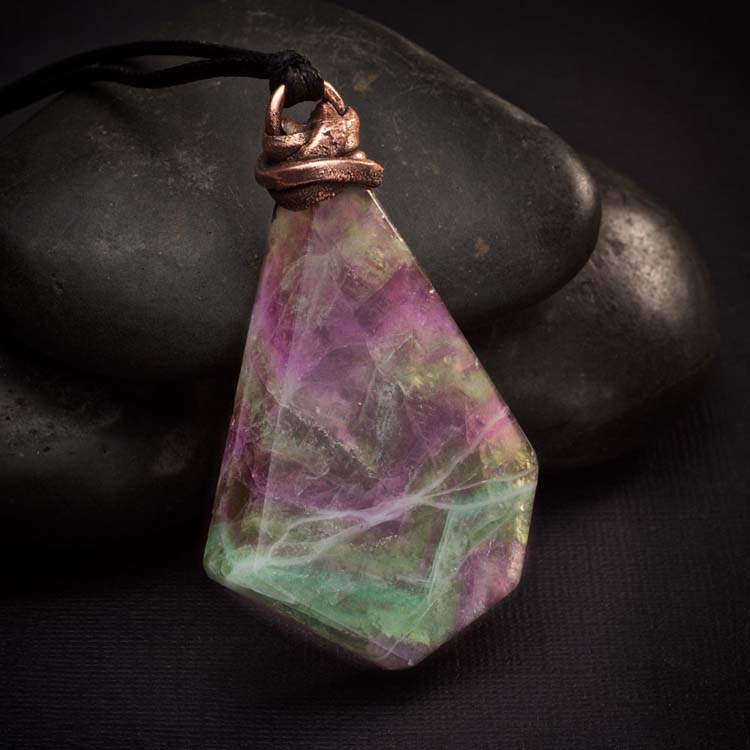 Fluorite Talisman Pendant by Healing Stones for You