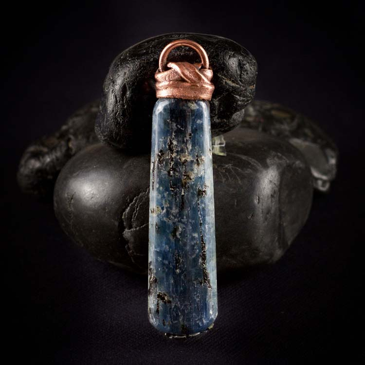 Blue Kyanite Talisman Pendant B by Healing Stones for You