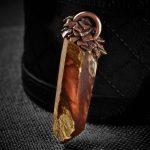 Amphibole Quartz / Angel Phantom Quartz Talisman Pendant C3 by Healing Stones for You