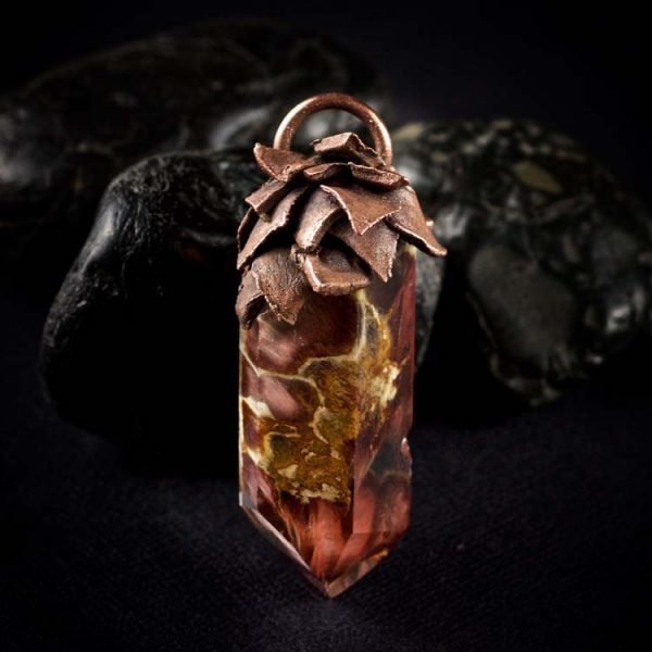 Amphibole Quartz / Angel Phantom Quartz Talisman Pendant E5 by Healing Stones for You
